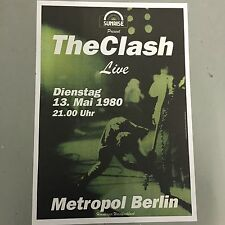 THE CLASH - GERMAN CONCERT POSTER BERLIN GERMANY 1980  (A3 SIZE)