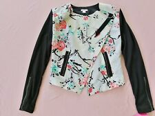 Xhilaration™ Women's Printed Collarless Quilted Shoulder Oblique Jacket XS