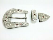 Sterling Silver & Gemstones Women Buckle Brand New Western Design With Good 925