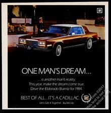 1984 Cadillac Eldorado Biarritz car photo vintage print ad