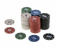 100Pcs Texas Poker Chip Counting Bingo Chips Sets Casino Entertainment Acc.