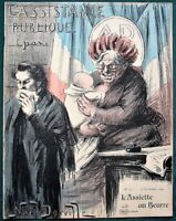 L'Assiette au Beurre #32 Public Assistance Welfare 1901 French Satire Art