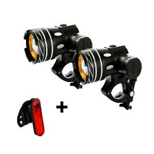 T6 LED MTB Rear Front Set 15000lm Bicycle Lights Bike Headlight USB Rechargeable
