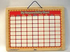 Responsibility Chart Magnetic Dry Erase Child Chore Board Scheduling Magnetic