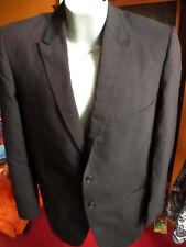 Large True Vtg 50s Union Made Shabby Muted Stripe Summer Thin Wool Blazer Jacket