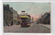 HIGH STREET, MUSSELBURGH: East Lothian postcard with a tram (C25903)