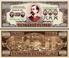 Tombstone Million Dollar Bill Collectible Fake Play Funny Money Novelty Note