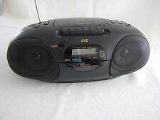 JVC Portabler Vintage CD Radio Cassetten Recorder Uhr/Wecker Super Zustand