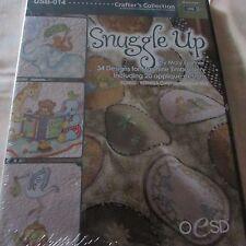 OESD Beary Snuggle Up Embroidery Design usb by Mary Gartner Cutwork files NIP