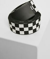 Urban Classics cinturón adjustable Checker Belt Black/White