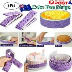 2Pcs Wilton Bake-Even Strips Belt Bake Even Moist Level Cake Baking Tool H 2K0