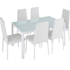 Dining Set 6 Chairs with Table dining room Furniture kitchen glass modern