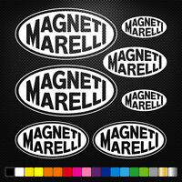 Compatible MAGNETI MARELLI 7 Stickers Autocollants Adhésifs Auto Moto  Sponsor