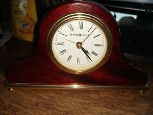 howard miller, alarm clock, mantel style, cherry wood