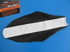 HONDA CRF450 CRF450R 09-12 SEAT COVER BLACK + WHITE GRIPPER MOTOCROSS SEATCOVER