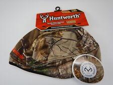 Mens Huntworth Realtree Camouflage Blaze Orange Hunting Beanie Hat Skull Cap M/L
