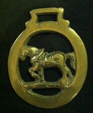 Small Delicate Vintage Heavy Horse in Harness Horse Harness Brass in Oval Frame