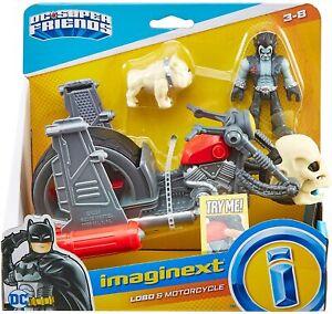 Imaginext GKJ24 DC Super Friends Lobo & Motorcycle Toy, Figure & Vehicle Set NEW