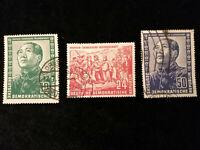 DDR  Deutsche Post 1951 - MiNr. 286 - 288 Deutsch-chinesische Freundschaft
