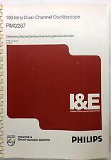 PHILIPS PM3267 Oscilloscope Operating Manual P/N 9499-440-25501