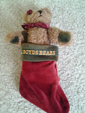 BOYD'S BEARS ARCHIVE COLLECTION JOINTED ARMS BROWN BEAR IN RED XMAS STOCKING TAG