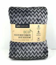Life Comfort Urban Ultimate Eco Textured Throw/Blanket 60 x 70 in. Black Multi