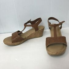 e8d2748282e3 thom mcan Sandals Wedges Women Size 11M Tan Leather Upper