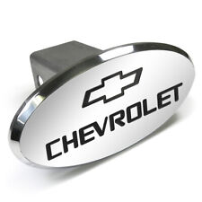 Chevrolet Engraved Oval Shape Chrome Aluminum Tow Hitch Cover