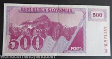 SLOVENIA 500 TOLAR P8 1990 PRE EURO RARE WORLD CURRENCY MONEY BILL BANK NOTE