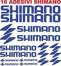 KIT 16 ADESIVI SHIMANO BICI STICKERS SHIMANO
