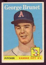 1958 TOPPS GEORGE BRUNET CARD NO:139 EXMINT PLUS CONDITION