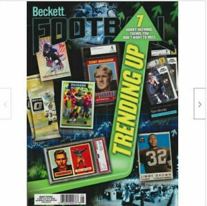 Used May 2021 Beckett Football Card Price Guide Magazine, Trending Up, Tom Brady