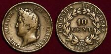 FRANCE 10 centimes 1839 French Colonies Louis-Philippe