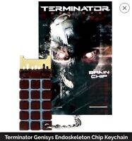 New TERMINATOR GENISYS Endoskeleton T-800 Brain Chip CPU Prop Replica Key Chain