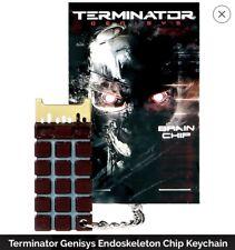 New TERMINATOR GENISYS Endoskeleton T-800 Brain Chip CPU Prop Replica Key Chain
