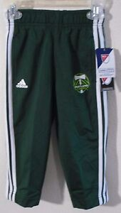 NWT Adidas Portland Timbers Toddler Boys Sideline Warm-Up Pants 2T Green MSRP$28