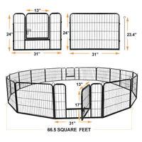 "8-16panel 24""30""39"" Foldable Detachable Pet Playpen Dog Exercising Barrier Fence"