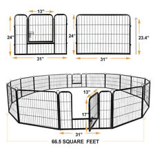 "Used 24"" Dog Kennel Crate Pet Enclosure Exercise Pen Fence Ez Multiple Shape"