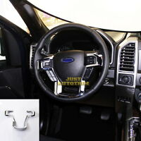 Steering Wheel Moulding Chrome Cover trims Kit for 15-19 Ford F150 Accessories