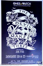 THE DEVIL MAKES THREE 2014 SAN DIEGO CONCERT TOUR POSTER - Bluegrass Music