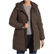 Lucky Brand Hooded Parka Sz L Army Zip Up Utility Women's NWT $199