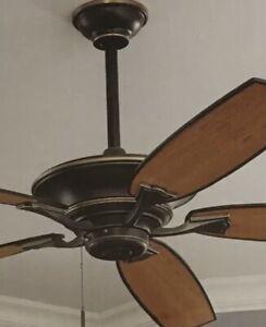 """60"""" Hampton Bay Ashburton Indoor Ceiling Fan ~ Tarnished Bronze Finish"""