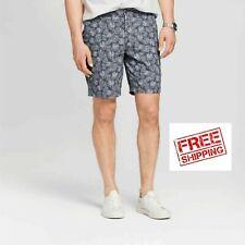 "Goodfellow & Co Men's 9"" Floral Railroad Gray Linden Flat Front Shorts Pick Size"