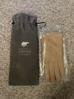 Fratelli Orsini gloves taupe leather gloves with cashmere lining womens size 8