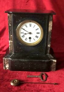 French Antique Marble Mantle Clock
