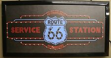 Route 66 authorized service station led lighted sign shop decor message display
