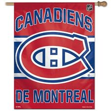 "MONTREAL CANADIENS DE MONTREAL 27""X37"" BANNER FLAG BRAND NEW WINCRAFT"