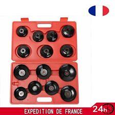 14x Set Kit Clé Coiffe Pr Filtre à Huile Boîte à Outil Cloche Voiture Démontage