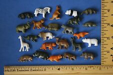 Set of MINIATURE tiny plastic toy craft ZOO animals ~ LOT 24 animal wild panda