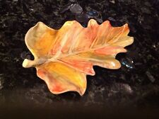 Fall Leaf Plate From Italy
